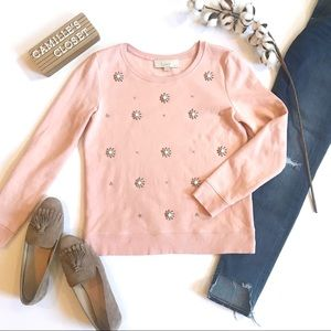 LOFT Starburst Jeweled Sweatshirt